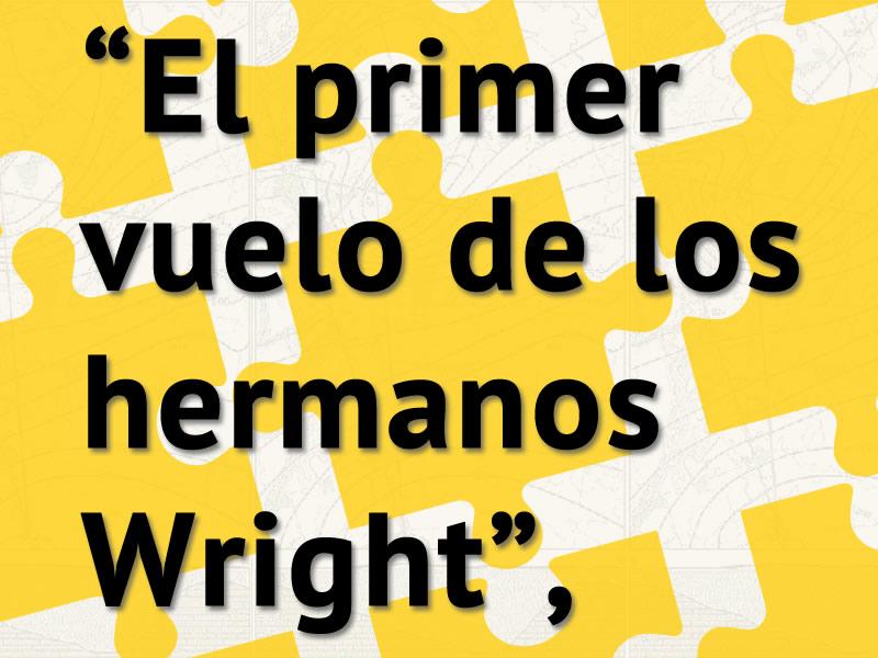 El primer vuelo de los hermanos Wright